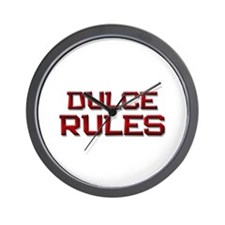 dulce rules Wall Clock