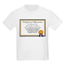 Certificate for Brother T-Shirt