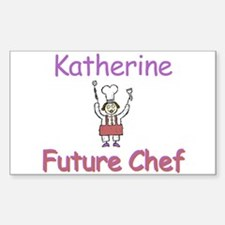 Katherine - Future Chef Rectangle Decal