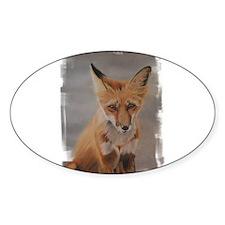 Fox Oval Decal