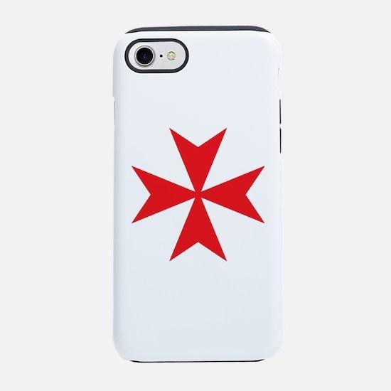 Red Maltese Cross iPhone 7 Tough Case