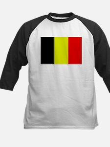 Flag of Belgium 4 Kids Baseball Jersey