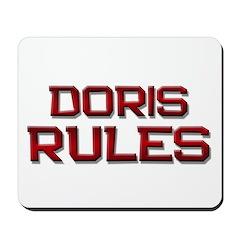 doris rules Mousepad