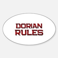 dorian rules Oval Decal