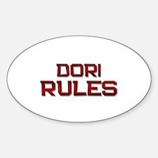 dori rules Oval Decal
