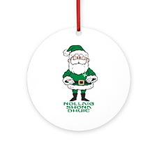 Santa O'Claus Ornament (Round)