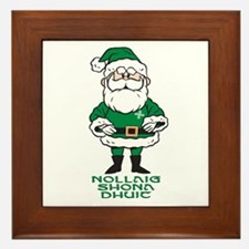 Santa O'Claus Framed Tile