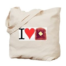 I Love Toast Tote Bag