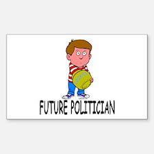 Future Politician Rectangle Decal