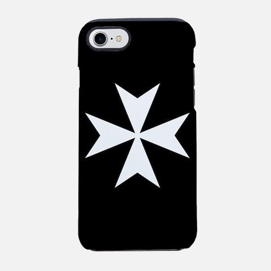 White Maltese Cross iPhone 7 Tough Case
