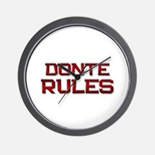 donte rules Wall Clock