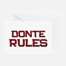 donte rules Greeting Card