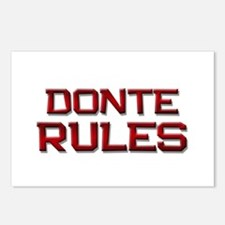 donte rules Postcards (Package of 8)