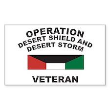 Kuwait Veteran 1 Rectangle Decal