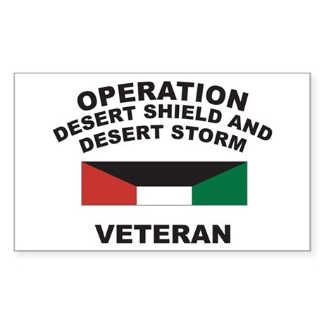 Kuwait Veteran 1 Rectangle Sticker
