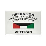 Kuwait Veteran 1 Rectangle Magnet (100 pack)