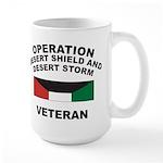 Kuwait Veteran 1 Large Mug