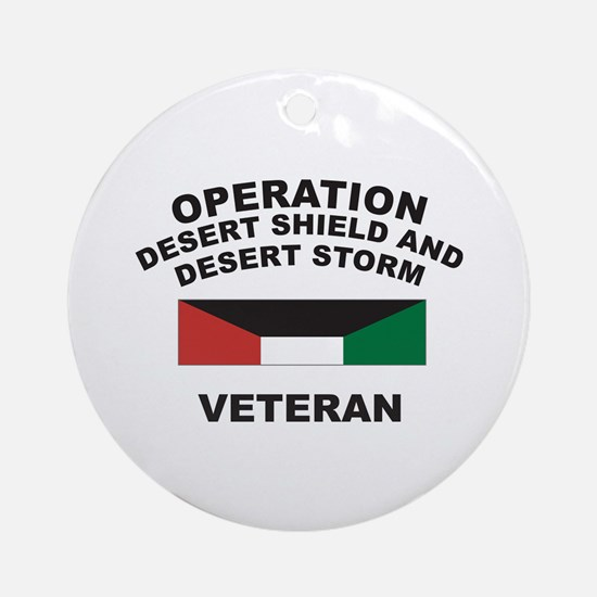 Kuwait Veteran 1 Ornament (Round)