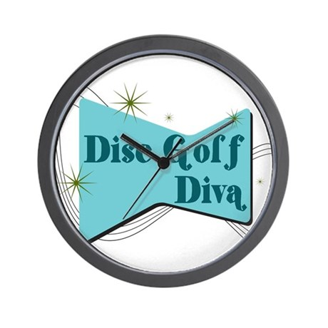 Disc Golf Diva Wall Clock