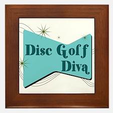 Disc Golf Diva Framed Tile