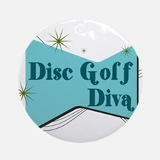Disc Golf Diva Ornament (Round)