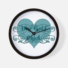 Disc Golf Chick Wall Clock