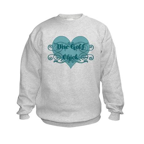 Disc Golf Chick Kids Sweatshirt