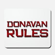 donavan rules Mousepad