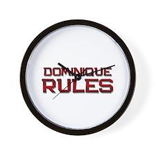 dominique rules Wall Clock
