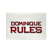 dominique rules Rectangle Magnet