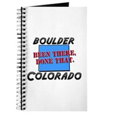 boulder colorado - been there, done that Journal
