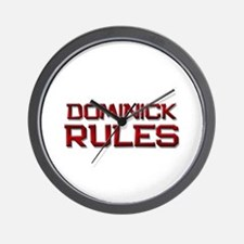 dominick rules Wall Clock