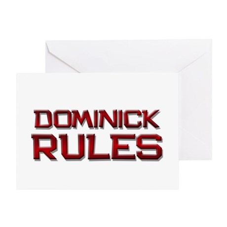 dominick rules Greeting Card