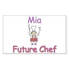 Mia - Future Chef Rectangle Decal