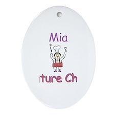 Mia - Future Chef Oval Ornament