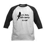 Geek/Gamer Talk Nerdy To me Kids Baseball Jersey