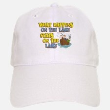What Happens on the Lake Baseball Baseball Cap