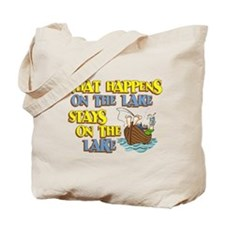 What Happens on the Lake Tote Bag