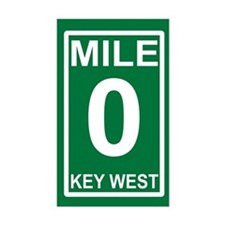 Mile Zero Decal