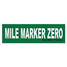 Mile Marker Zero Key West Bumper Bumper Sticker