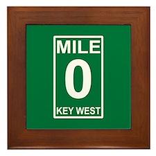 Mile Zero Key West Framed Tile