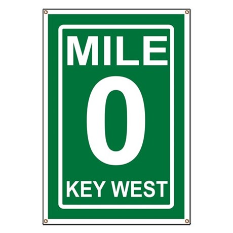 Mile Zero Key West Banner