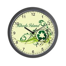 Rhode Island Recycle T-Shirts and Gifts Wall Clock