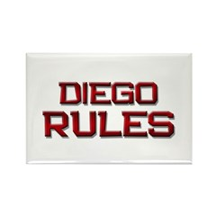 diego rules Rectangle Magnet