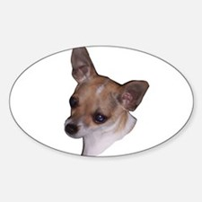 Jasmine the Chi Chihuahua Oval Decal