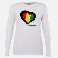Rasta Heart Ash Grey T-Shirt