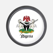 Nigerian Coat of Arms Seal Wall Clock