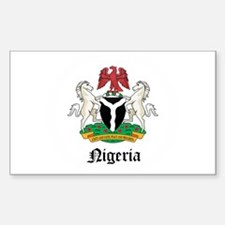 Nigerian Coat of Arms Seal Rectangle Decal