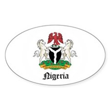 Nigerian Coat of Arms Seal Oval Decal