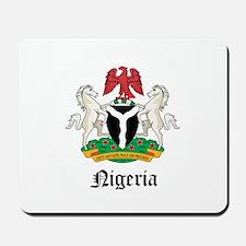 Nigerian Coat of Arms Seal Mousepad